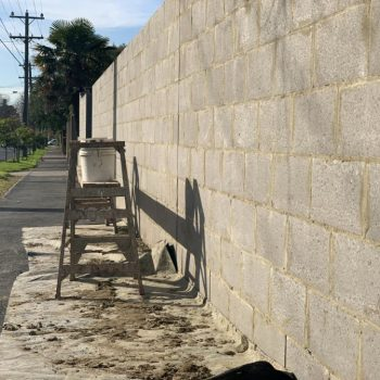 A brick fence in The Gold Coast that needs repairing